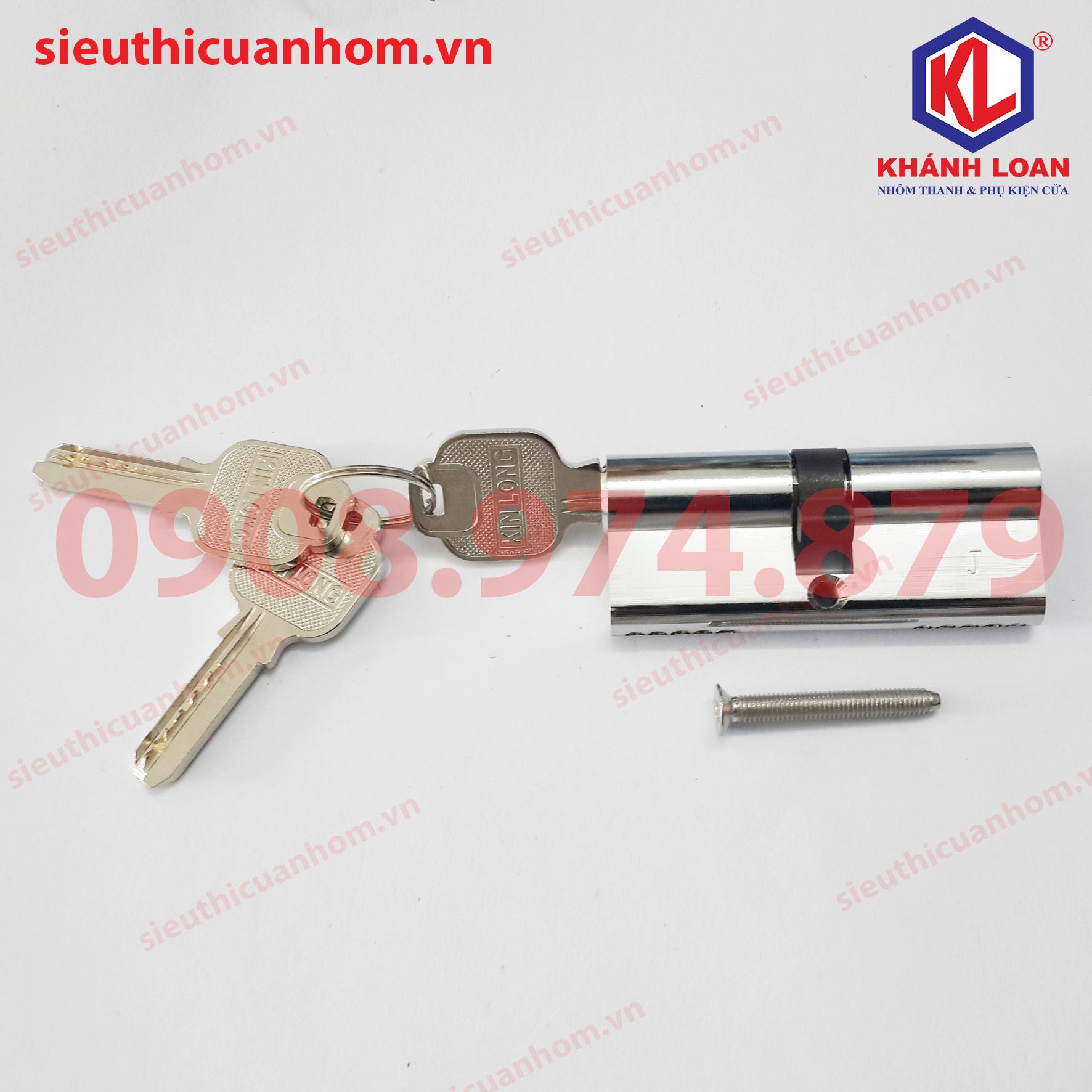 KIL3737 lõi khóa 2 đầu chìa xếp trượt & cửa đi lùa