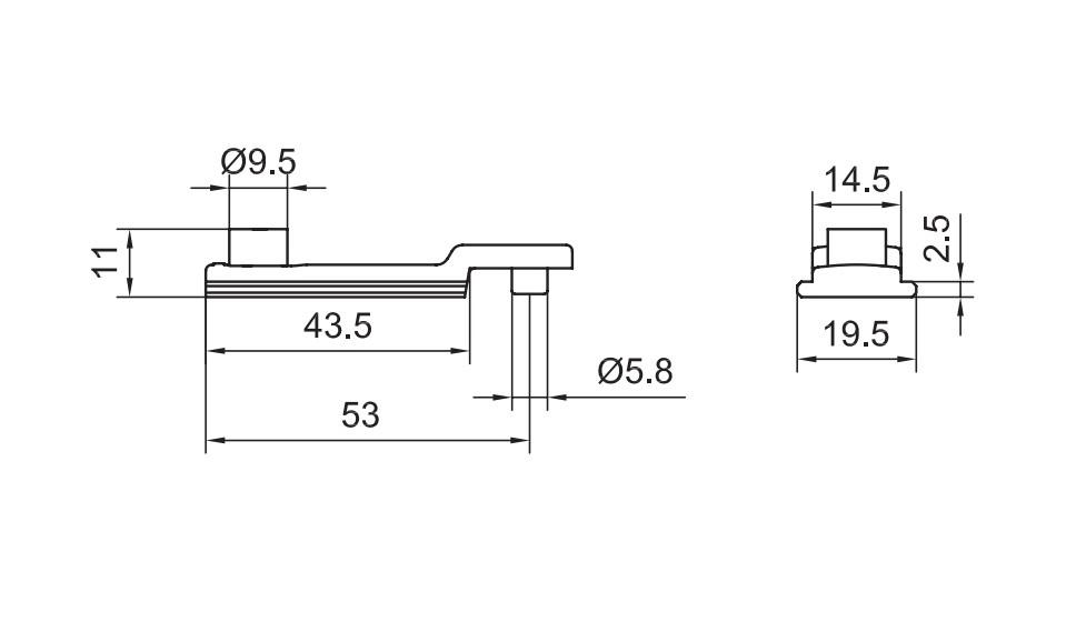 N39 - Điểm khóa biên cửa đi mở quay 2 cánh và 4 cánh