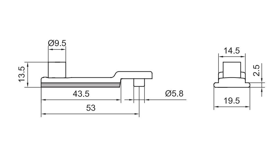 N40 - Điểm khóa biên cửa đi 1 cánh nhôm Xingfa hệ 55