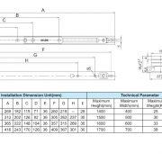 HC400A-Seri-Bản lề chữ A hiệu KinLong