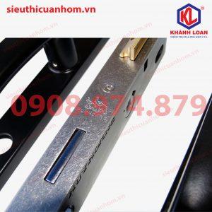 Khoá đơn điểm hiệu Huy Hoàng dùng cho cửa đi nhôm Xingfa hệ 55
