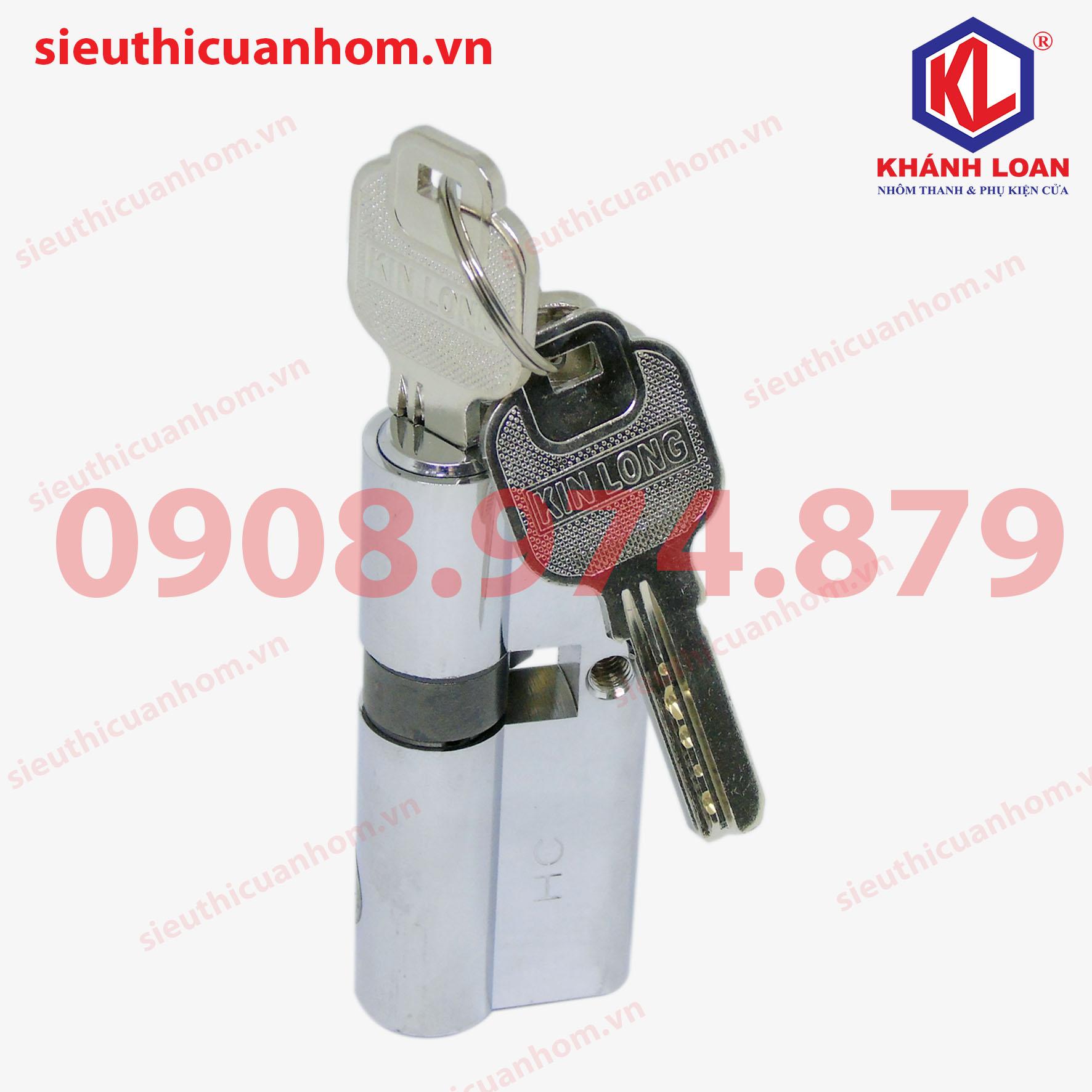 Lõi khóa 2 đầu chìa cửa đi hiệu KinLong chính hãng - KIL3247