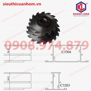 Dao phay đố nhôm Xingfa C3203 và C3304