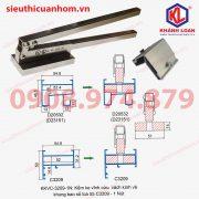Kềm bấm ke vĩnh cửu khung bao vách kính và khung bao sổ lùa 55 cải tiến và mạ kẽm KKVC-HL-KL-3209-1N loại 1 nút 2 vít