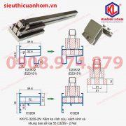 Kềm bấm ke vĩnh cửu khung bao vách kính và sổ lùa 55 cải tiến và mạ kẽm KKVC-HL-KL-3209-2N loại 2 nút 4 vít
