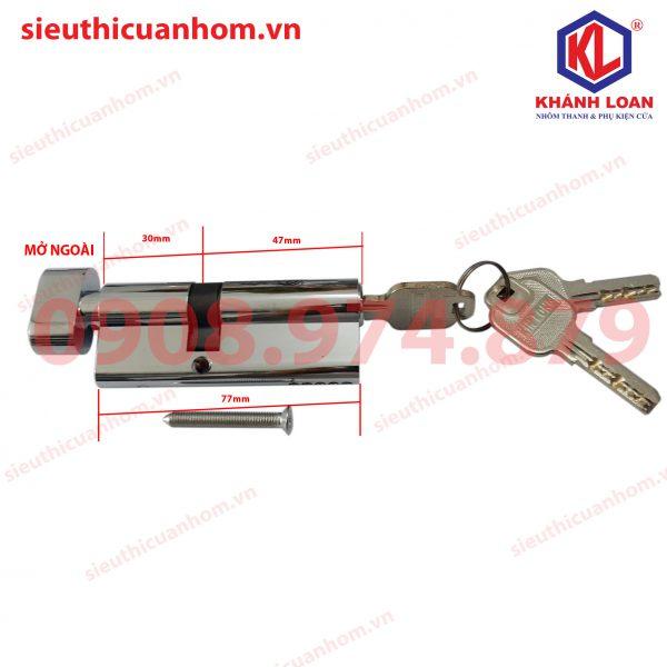Lõi khóa 1 đầu chìa mở ngoài nhôm Xingfa 55 - KIL4732T