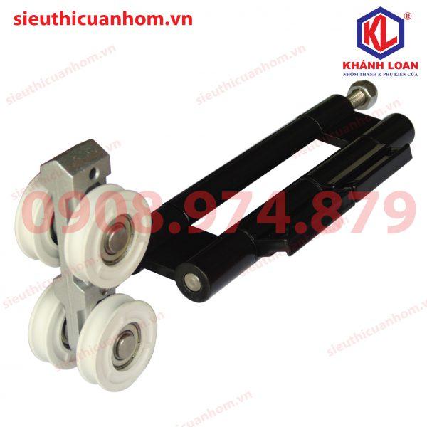 Bản lề bánh xe đôi cửa xếp trượt nhôm Xingfa hệ 63 FXZ1B