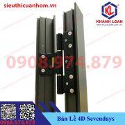 Bản lề cối 4D hiệu Sevendays dùng cho nhôm Xingfa hệ 55